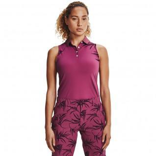 Polo femme Under Armour sans manches iso-chill