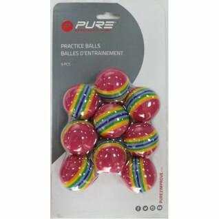 Lots de 9 balles d'entraînement rayées Pure2Improve
